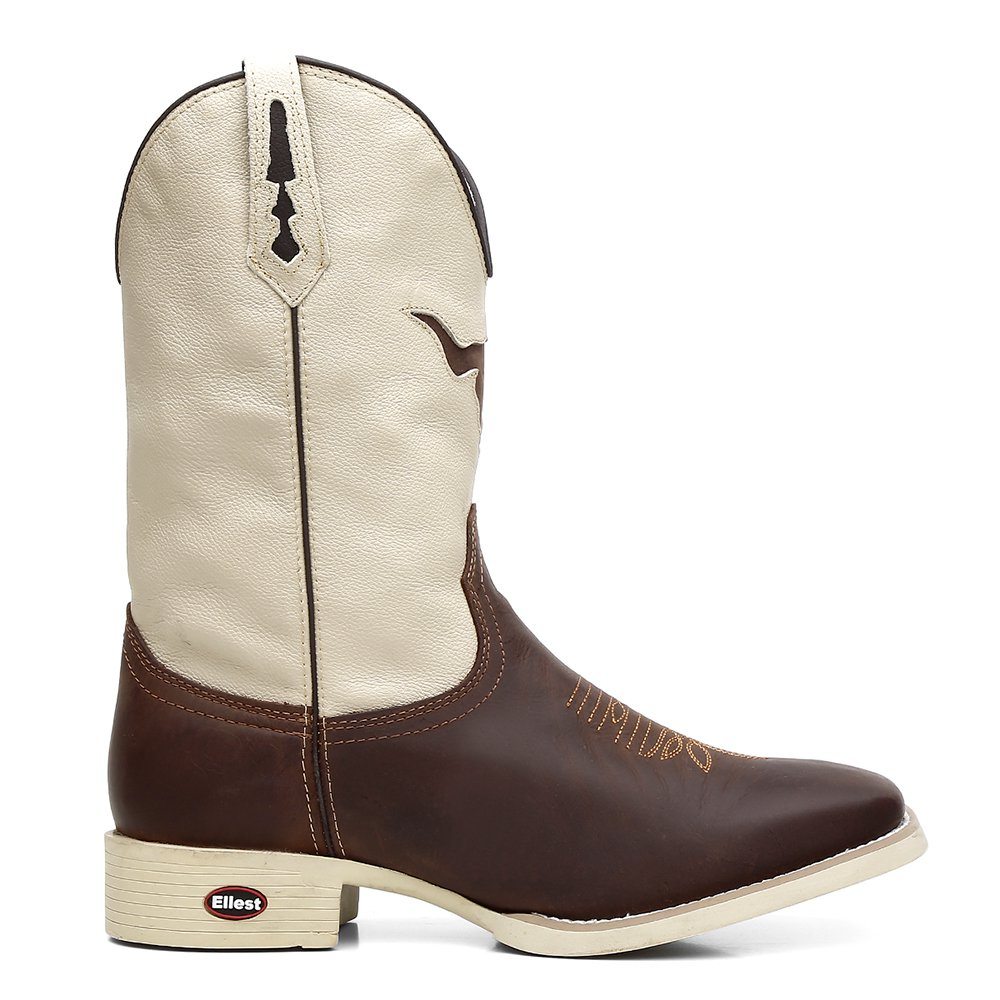 Bota Texana White Bull